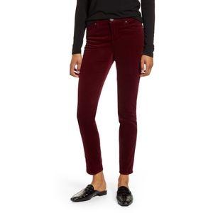 KUT from the Kloth Burgundy Skinny Corduroy Jeans